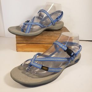 Keen La Paz Baby Blue Sandals for Women Size 8.5